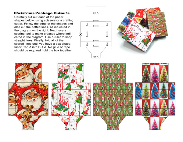 Как сделать новогоднюю коробку для подарка своими руками